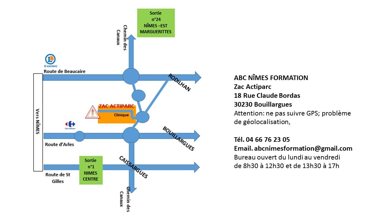 Chemin Des Canaux 30230 Bouillargues contacter abc nîmes - centre de formation nîmes gard (30)
